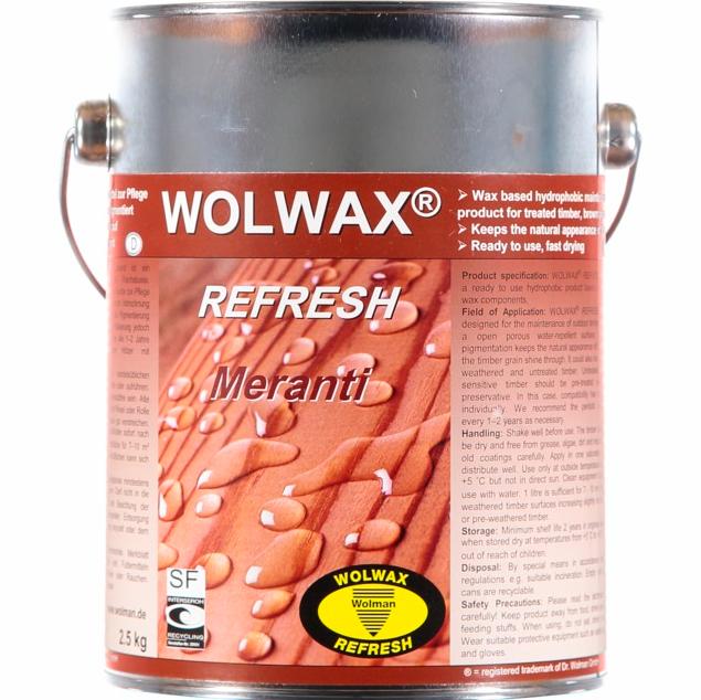 Bild på Wolwax Träolja Meranti 2,5l